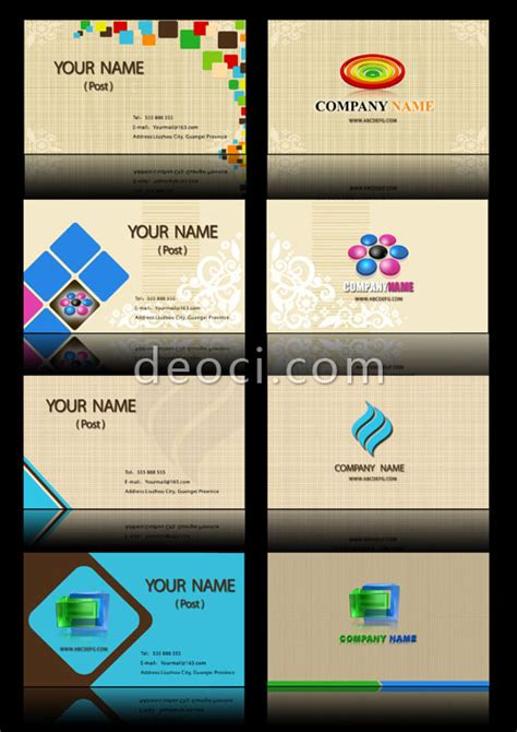 business card template powerpoint free 8 linen texture business card background design template