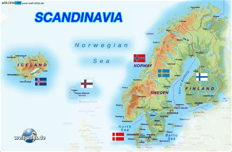 scandinavia map map of scandinavia several countries map in the atlas of the world world atlas