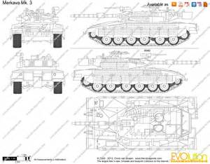 drawing plans the blueprints com vector drawing merkava mk 3