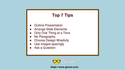 7 Tips For Great Photos by Top 7 Tips For Effective Powerpoint Presentation
