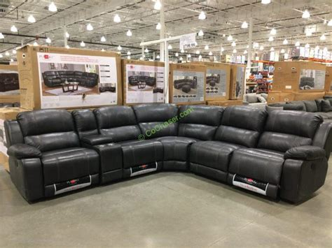 pulaski leather reclining sofa sectional at costco pulaski furniture leather power