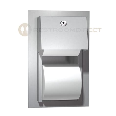 dual roll toilet tissue dispenser asi 0031 recessed mount stainless steel dual roll toilet
