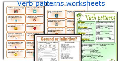 verb patterns worksheet pdf verb patterns exercises pdf with answers the rules