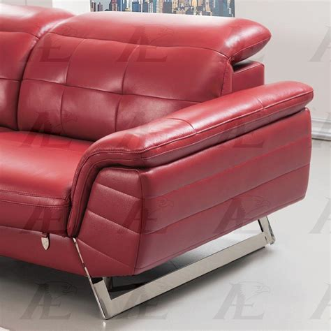 italian leather sectional with chaise american eagle ek l085 red sectional sofa chaise lhc