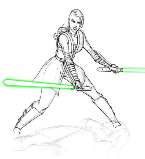 coloring pages count dooku jedi ventress wip by josephb222 on deviantart