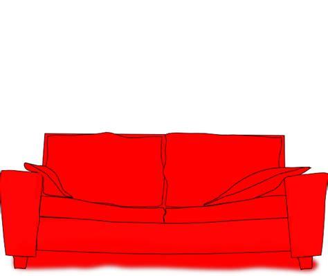 cartoon sofa red couch clip art at clker com vector clip art online