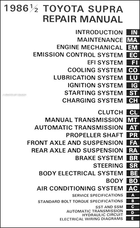 service manuals schematics 1997 toyota supra auto manual 1986 1 2 toyota supra repair shop manual original