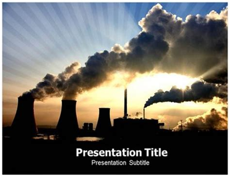 Coal Pollution Powerpoint Template 03219 Images Frompo Air Pollution Ppt Templates Free