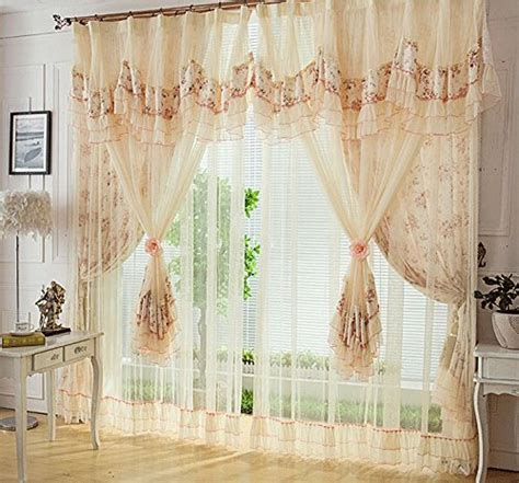 vintage country curtains high quality wholesale lace curtain from china lace