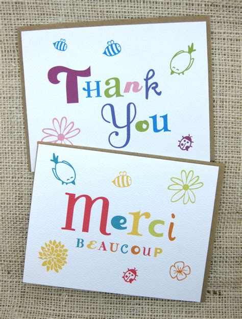 Handmade Thank You Notes - don t forget thank you notes