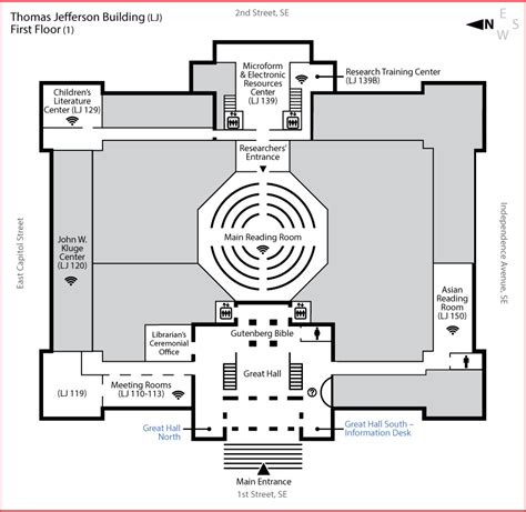 library of congress floor plan visitor information desks library of congress