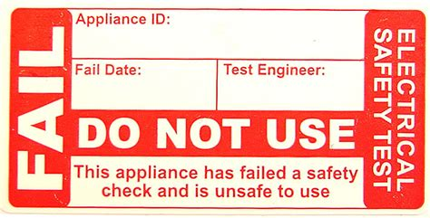 pat testing labels template pat testing labels stickers and pat test pass and fail label