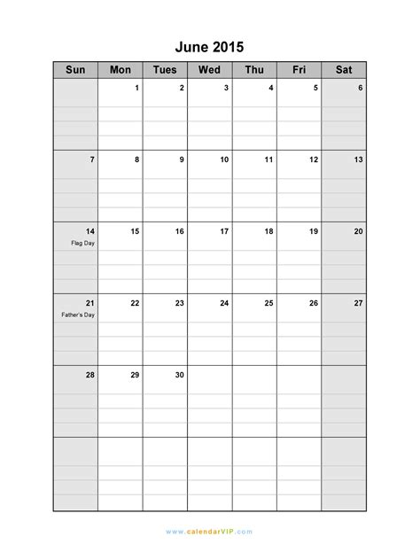 Blank Calendar For June 2015 June 2015 Calendar Blank Printable Calendar Template In