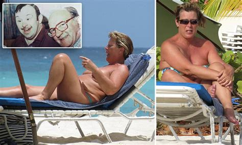 carer sunbathes topless in barbados while awaiting