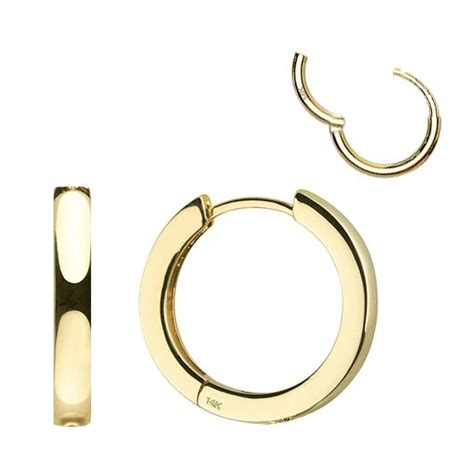 Single Hoop Earring 14k gold hinged cartilage helix single hoop earring