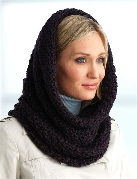 hooded cowl knit pattern pin by khammash on crocheting