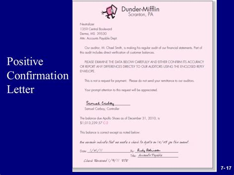 Confirmation Letter Meaning audit confirmation template contemporary exle