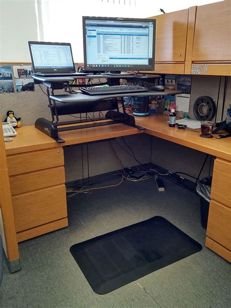 standing desk lift mechanism varidesk pro plus standing desk review the gadgeteer