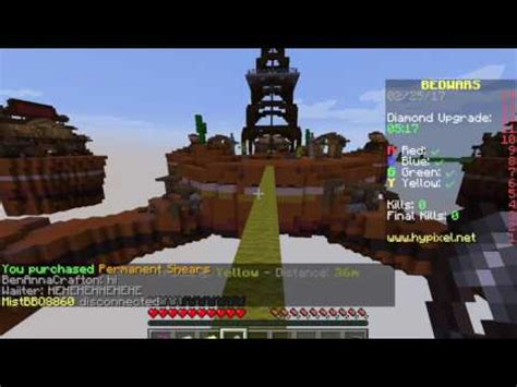 how to make a bed in minecraft pc minecraft bed wars on pc youtube