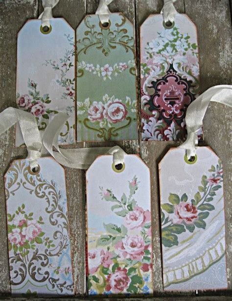 shabby chic wallpaper ideas vintage shabby wallpaper tags for gifts or by littlebeachdesigns cottage shabby chic style