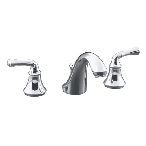 shop kohler forte polished chrome 2 handle widespread watersense bathroom faucet drain included