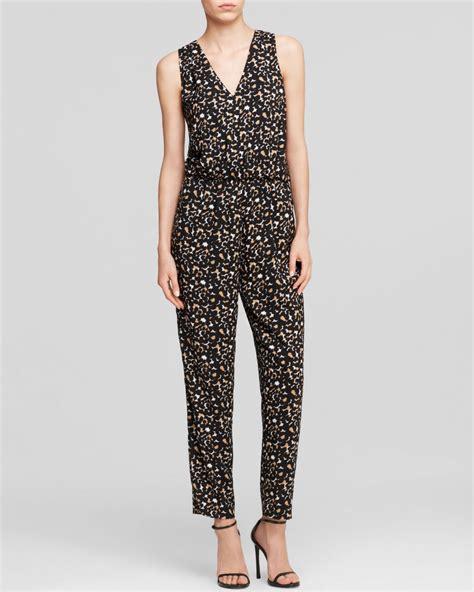 Jumpsuit Animal Print vince camuto leopard print jumpsuit in animal rich black