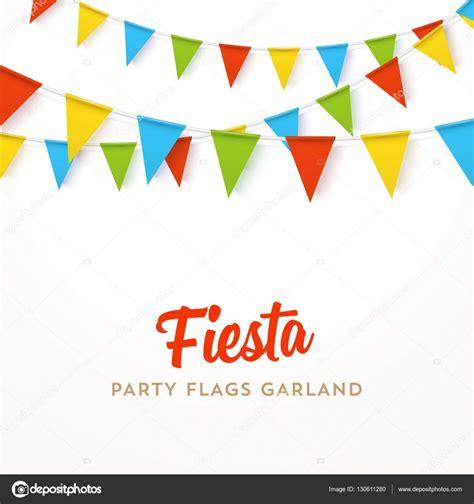 imagenes vectores fiesta guirnalda de bandera de colorido vector realista con