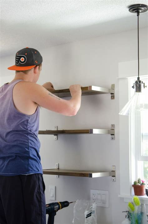diy kitchen shelving ideas diy open shelving ikea hack open shelving shelving