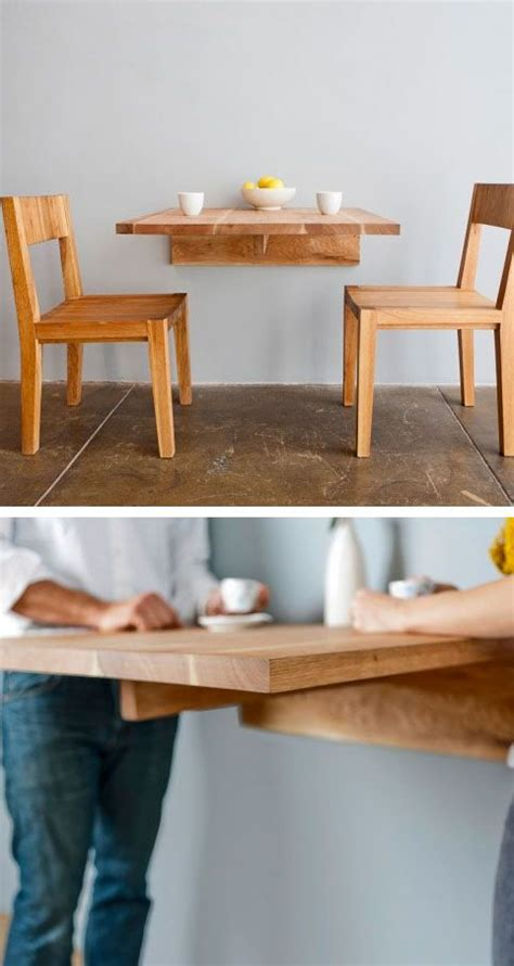 Kitchen Table Ideas For Small Spaces Wall Mounted Dining Table Great For Small Spaces Dining Kitchen Diy Wall