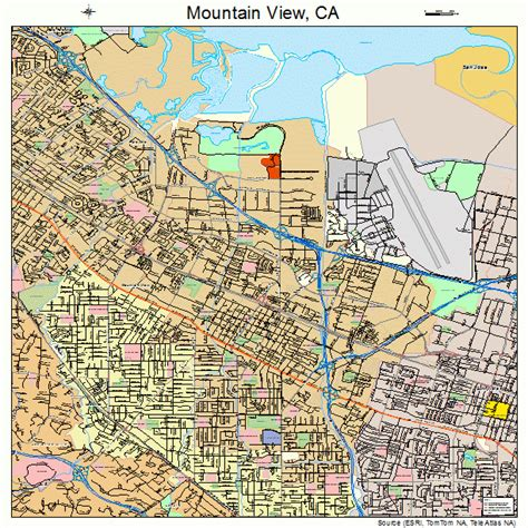 mountain view california map 0649670