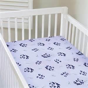 my baby panda design crib sheet white 748279126778