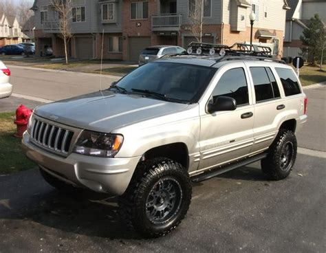 2004 Jeep Grand Roof Rack by Jeep Wj Black Wheels Front Ligths And Roof Rack
