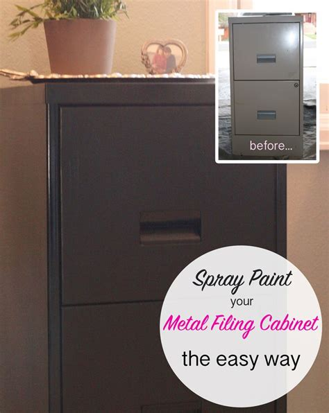 how to spray paint kitchen cabinets easily sprayertalk here is the easy way to spray paint a metal filing cabinet