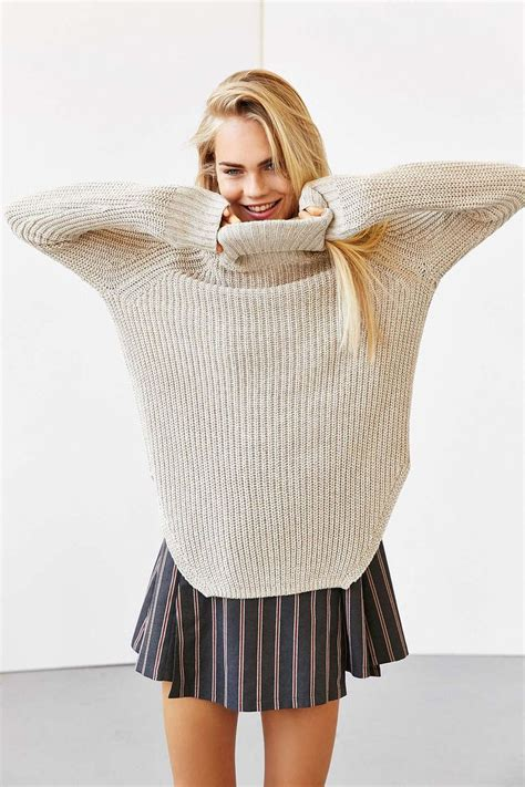 Vogue Sweater Zt7106 1 silence noise harley shirttail turtleneck sweater outfitters style