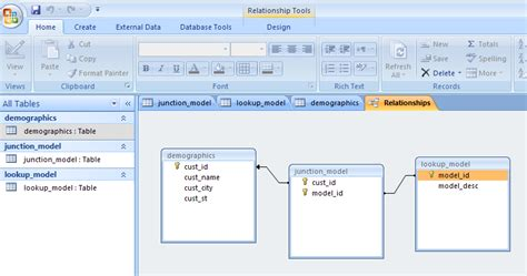 Simple Table Design forms integrate junction and lookup tables with a basic