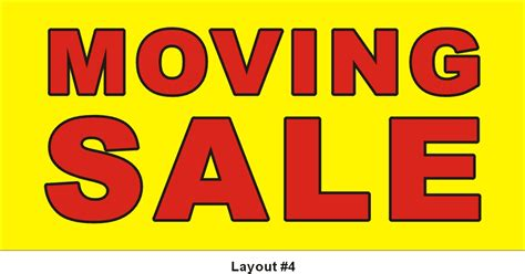 Moving Sale At Makeupcom by 2ftx4ft Moving Sale Banner Graphics