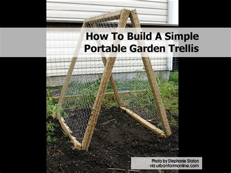 how to build a trellis how to build a simple portable garden trellis