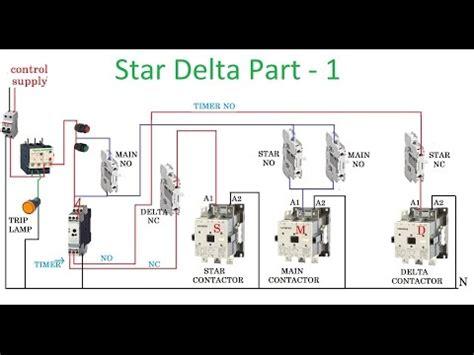 delta starter wiring diagram with timer