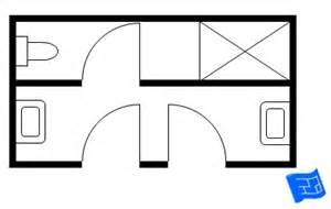 Bathroom Layout With 2 Entrances And Bathroom Floor Plans