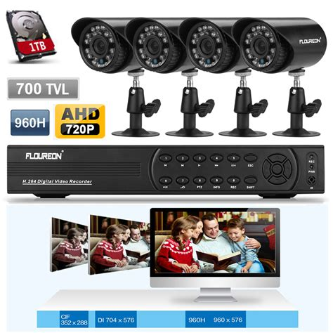 4ch 960h hdmi cctv dvr 700tvl home recorder
