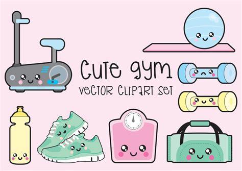 kawaii clipart kawaii or die premium vector clipart kawaii workout