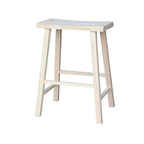 Unfinished Wood Bar Stool International Concepts 30 In Unfinished Wood Bar Stool 1s 683 The Home Depot