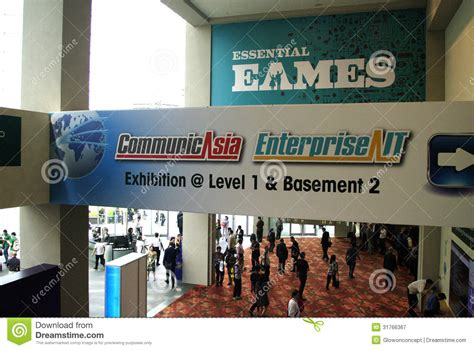Singapore Expo Foyer 1 by Communicasia And Enterprise It Exhibition In Singapore