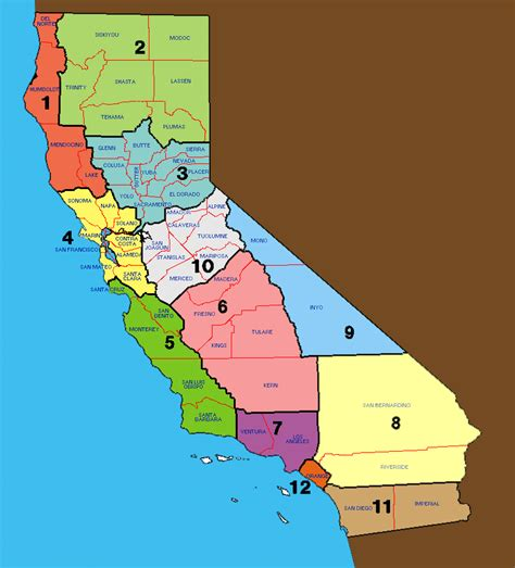 california state map with counties california counties clickable map