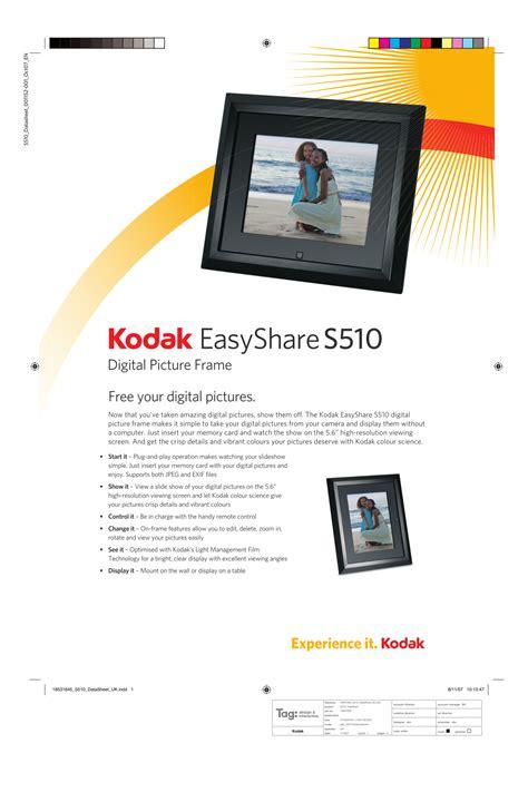 Download Free Pdf For Kodak Easyshare S510 Digital Photo
