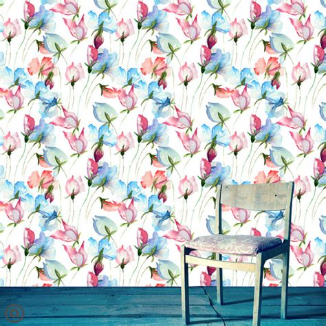 removable wallpaper floral removable wallpaper floral best free home design
