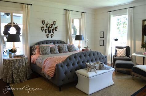 southern bedrooms southern living idea house 2012 cont slipcovered grey