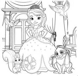 sofia the coloring pages