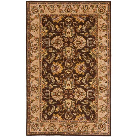 6ft rug safavieh heritage brown ivory 4 ft x 6 ft area rug hg912a 4 the home depot