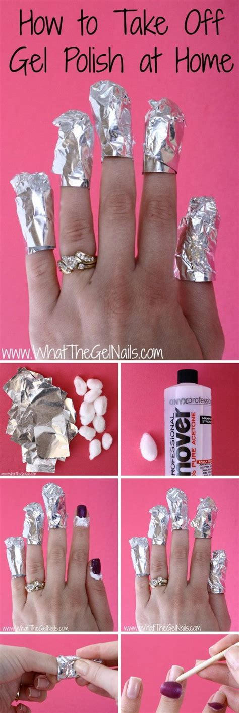 how to remove gel manicure at home all for fashions